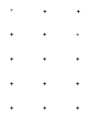 plus sign pattern